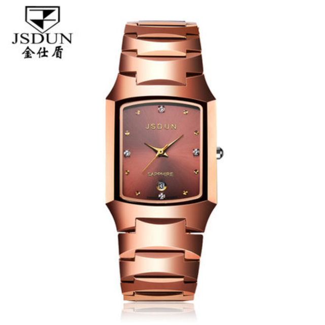JSDUN Full Tungsten Steel Bracelet Case Women Watch Fashion CZ Diamond Dress Rhinestone Quartz Watches Best Gift For Lady  137