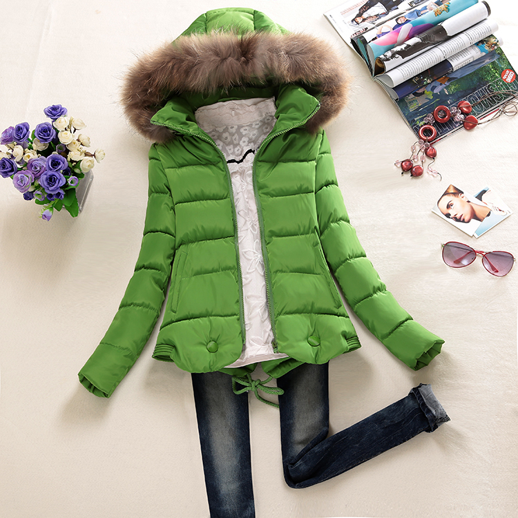 New Arrivals Down Coat For Women Fashion Slim Fur Collar Solid Winter Jacket(China (Mainland))