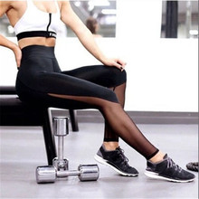 Buy New Fashion Quick Drying Mesh Splicing Fitness Leggings Women Sexy Push Breathable Ankle Length Leggings Workout Pants for $14.24 in AliExpress store