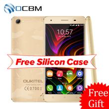 "In Stock Original Oukitel C5 Pro 4G LTE 2000mAh Mobile Phone MTK6737 Quad Core Android 6.0 5.0""HD 2GB RAM 16GB ROM 5.0MP GPS OTA(China (Mainland))"