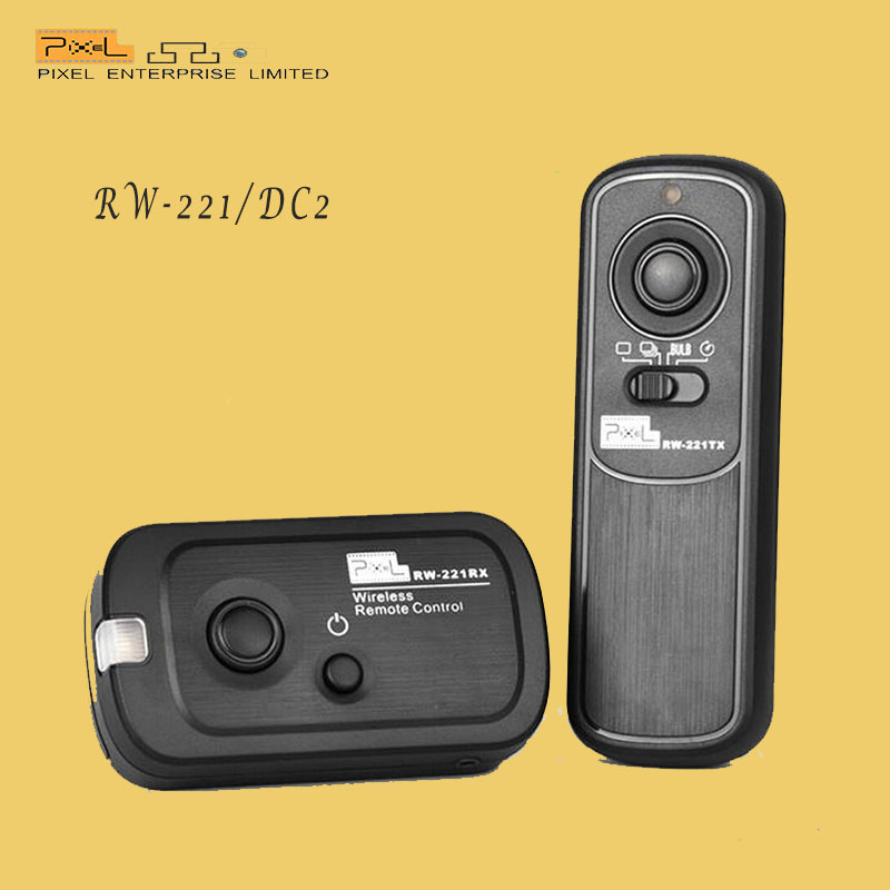 Pixel RW-221/DC2 Wireless camera Shutter Release Remote Timer For Nikon D7100 D3200 D600 D610(China (Mainland))