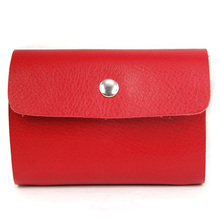 Unique Sale! Red Premium Leather Wallets Credit Card Holder ID Business Case Purse Unisex(China (Mainland))