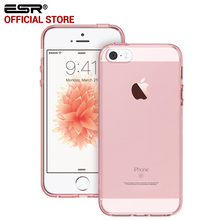 Case for iPhone SE, ESR Crystal Clear Ultra Slim Light Weight Hybrid Case Soft TPU Hard Back Cover for iPhone SE 5 5s 5se(China (Mainland))