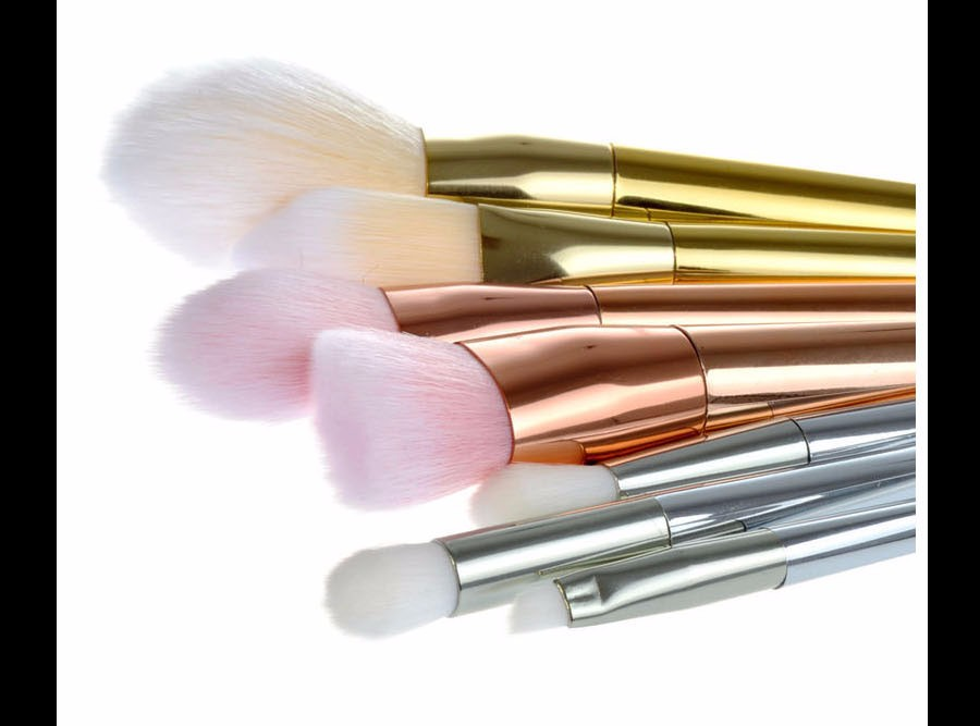 10 Make up Brushes Real Techniques Silver 7 pcs