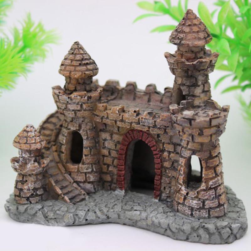 Castle Aquariums Decorations Castle Tower Ornaments Fish Tank Aquarium ...