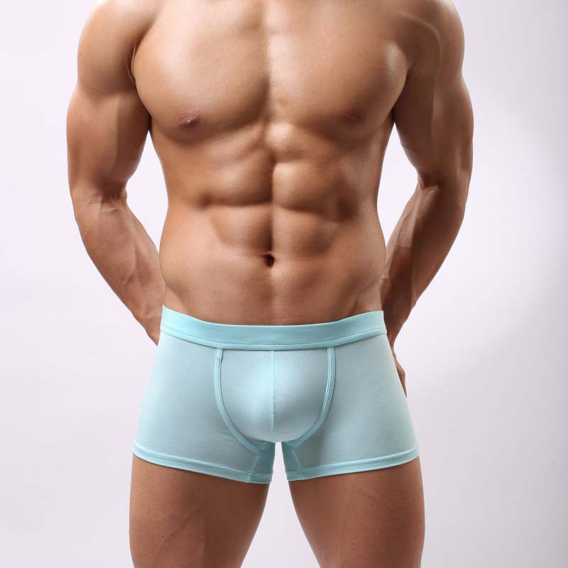 Cotton Underwear Men Solid Breathable Brand Mens Underwear Boxers Shorts Men Cueca Boxer White Black Gray Orange Blue Purple(China (Mainland))