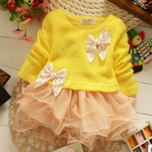 Free shipping 2015 high quality baby clothing spring new Korean girls dress sweet organza dress woven baby dress(China (Mainland))