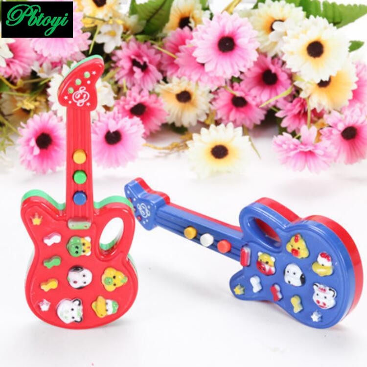Music electric guitar play different songs toy guitar kid fun toy piano keyboard high-quality simulation musical PB0233 5pcs/lot(China (Mainland))