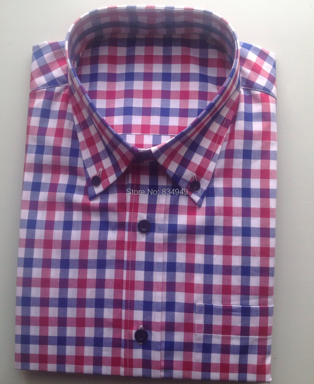 Buy 100 Cotton Blue Red White Gingham