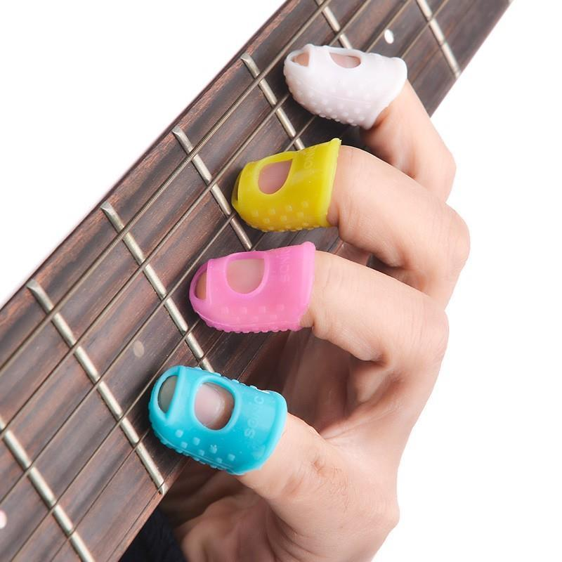 Antislip breathable finger stall, guitar practice prevent pain protect fingers soft set, comfortable for beginners guitar tools(China (Mainland))