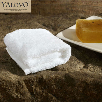 YALOVO Hand Towel Cotton,Hot Sale32*32CM,60G Five Star100% Cotton Spiral Thickening Plain Weave Hand Towel,Pure White Color,F001