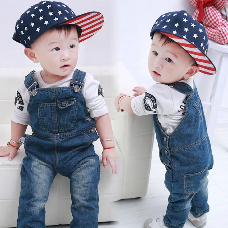 Brand children's clothing boys girls jeans jumpsuits fashion kids denim overalls children bib pants Free shipping(China (Mainland))