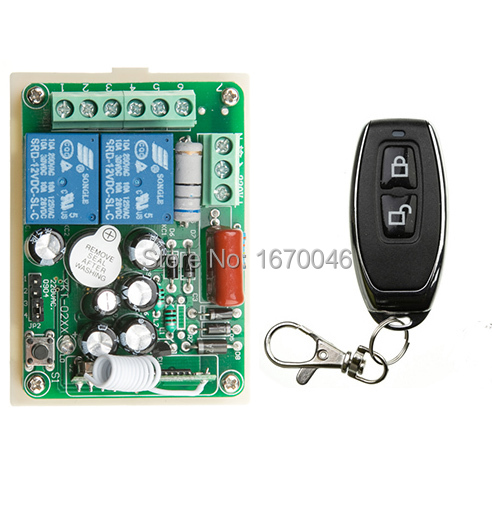 NEW 220V 2CH 10A Receiver & Transmitter RF Wireless Remote Switch teleswitch Momenrary Toggle Latched Adjustable(China (Mainland))