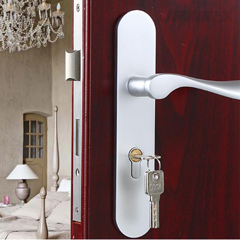 Modern Minimalist Space Aluminum Door Lock Handle Locks Indoor Mechanical Lockset Room Door-locks(China (Mainland))