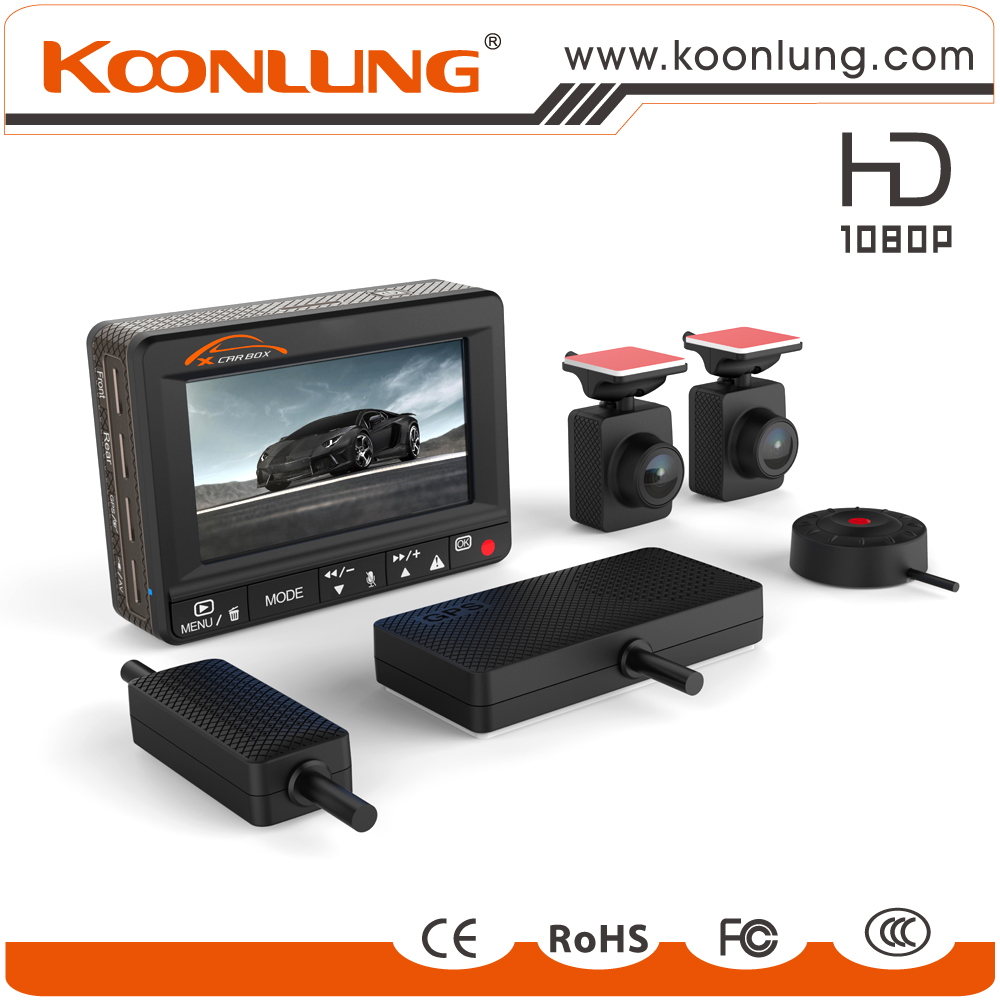 Original Manufacturer 78x57x23mm Dual Camera Car DVR 1080P Full HD Dual Lens + Wire Console + GPS and E-Dog Quality Guarantee(China (Mainland))