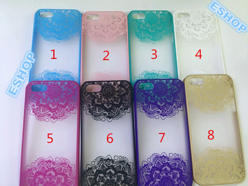2016 Nest flower Damask Lace Floral Printed Plastic Back cover Phone Skin Case Cover For Iphone6 6 Plus Free Shipping x0124(China (Mainland))