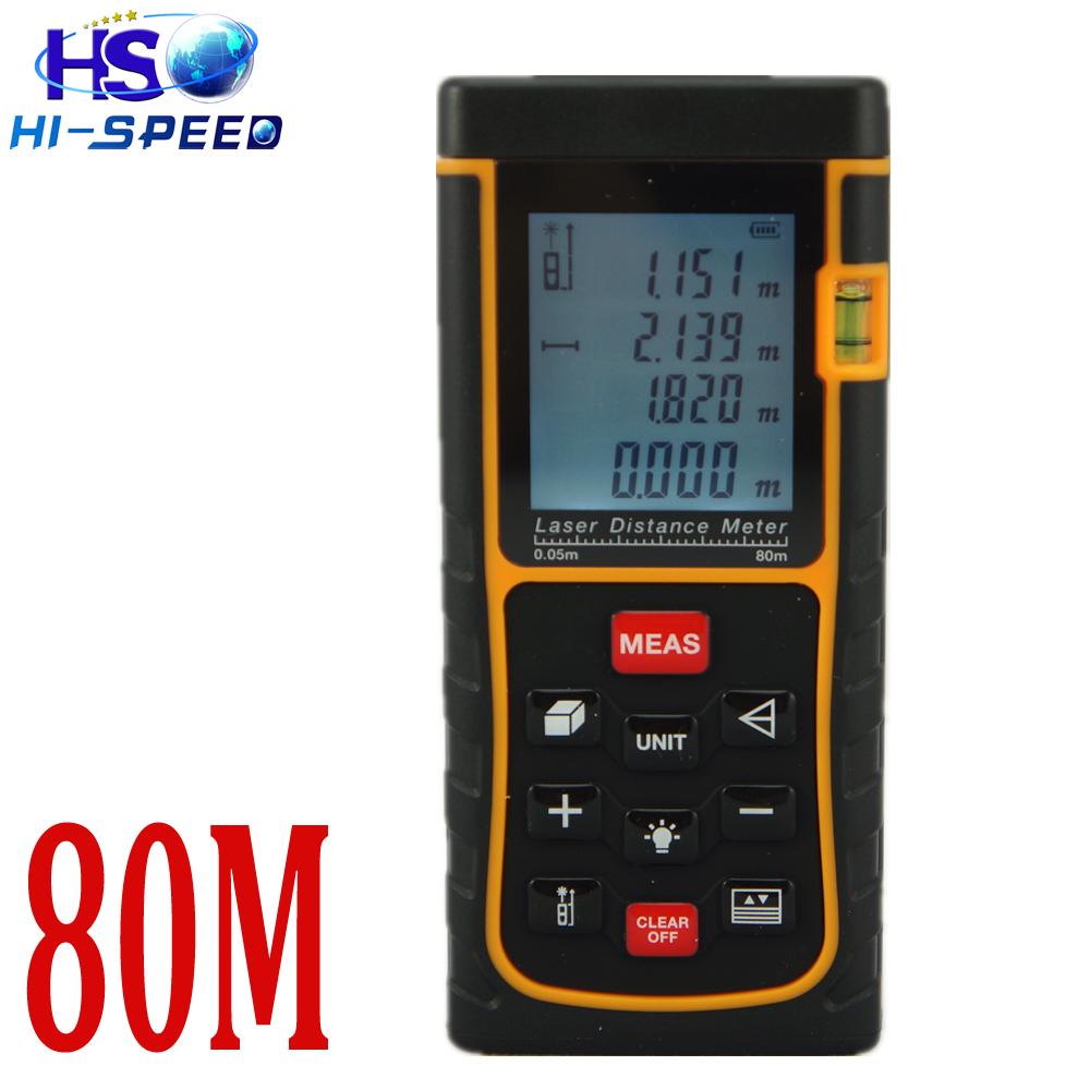 Laser distance meter 80m 262ft big Bubble Level Tool RZ80 measure Tape Area/Volume M/in/Ft Rangefind Range finder - GAOSHUO DIGITAL TECHNOLOGY CO., LTD store