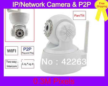 Plug & Play P2P Wireless Dual Audio IR Night Vision PanTilt CCTV Security Webcam Network IP Network Camera for iPhone & Andriod