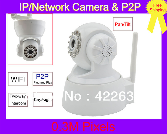 Plug & Play P2P Wireless Dual Audio IR Night Vision PanTilt CCTV Security Webcam Network IP Network Camera for iPhone & Andriod