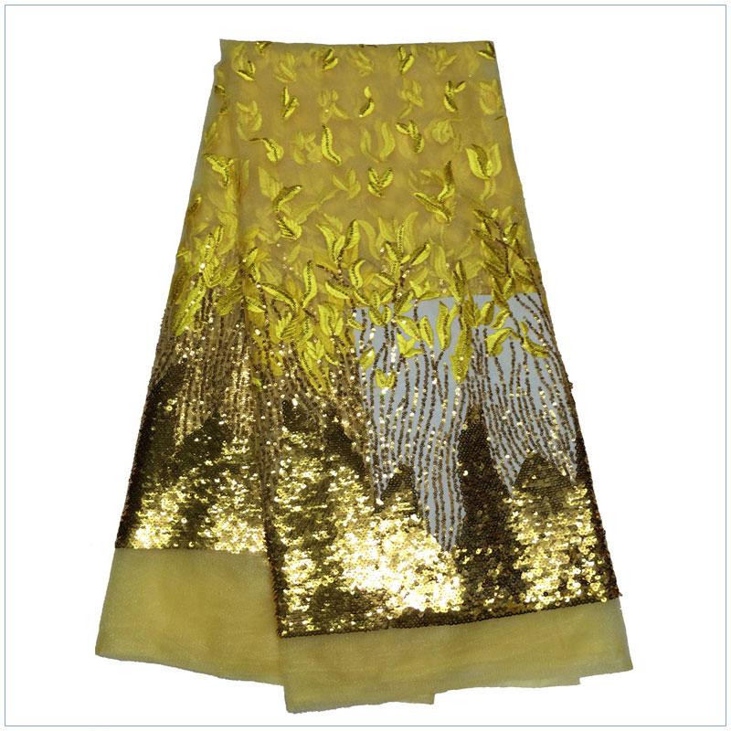equins french lace net fabric 2015 latest designs for african woman lady fashion dress dry lace yellow color f15102504(China (Mainland))