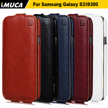 iMUCA Brand PU Leather Case For Samsung Galaxy S3 i9300 Vertical Flip for Samsung Galaxy S3 I 9300 Mobile Phone Case(China (Mainland))