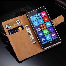 Дизайн стенда реальный кожаный чехол для Nokia Lumia 930 люкс флип книга стиль кожаный чехол с 2 слот для карт законопроект сайт черный