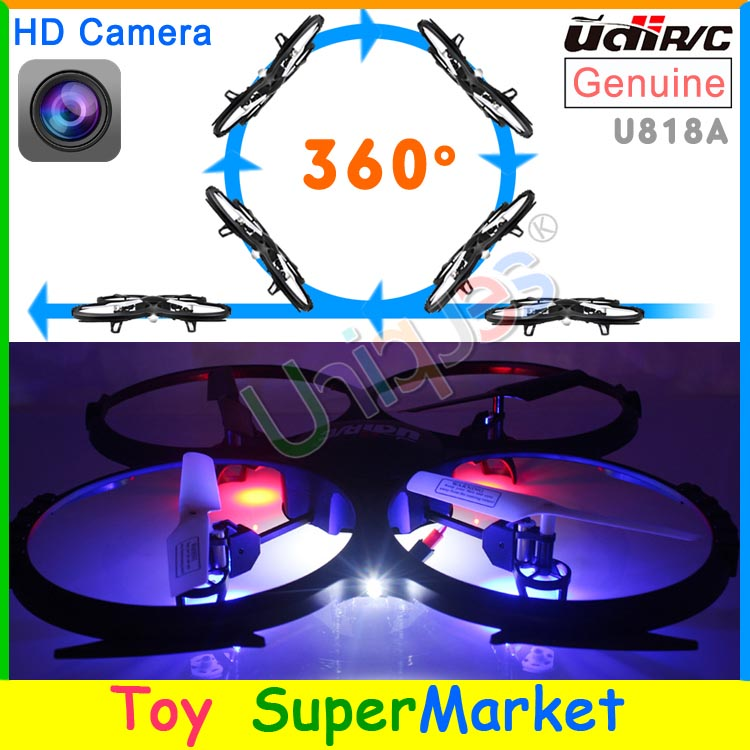 UDI U818A RC Quadcopter with Camera Remote Control Helicopter Big Quadrocopter 4CH Gyro UFO Drone with Camera 2015 New As H8C(China (Mainland))