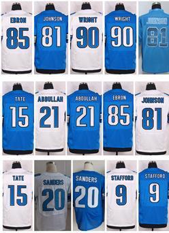 Wholesale 9 Matthew Stafford Jersey 15 Golden Tate,Ameer Abdullah,81 Calvin Johnson Jersey 85 Eric Ebron Elite Football Jersey(China (Mainland))