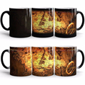 Free Shipping 1Piece The Lord of the Rings Color Changing Mug One Ring Heat Sensetive Mug