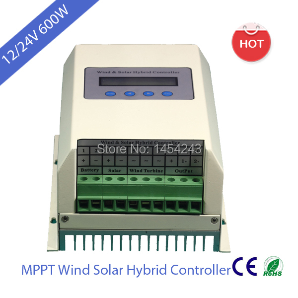 12/24V 600W MPPT Wind Solar Charge Controller with RS232,RS485 & USB optional(China (Mainland))