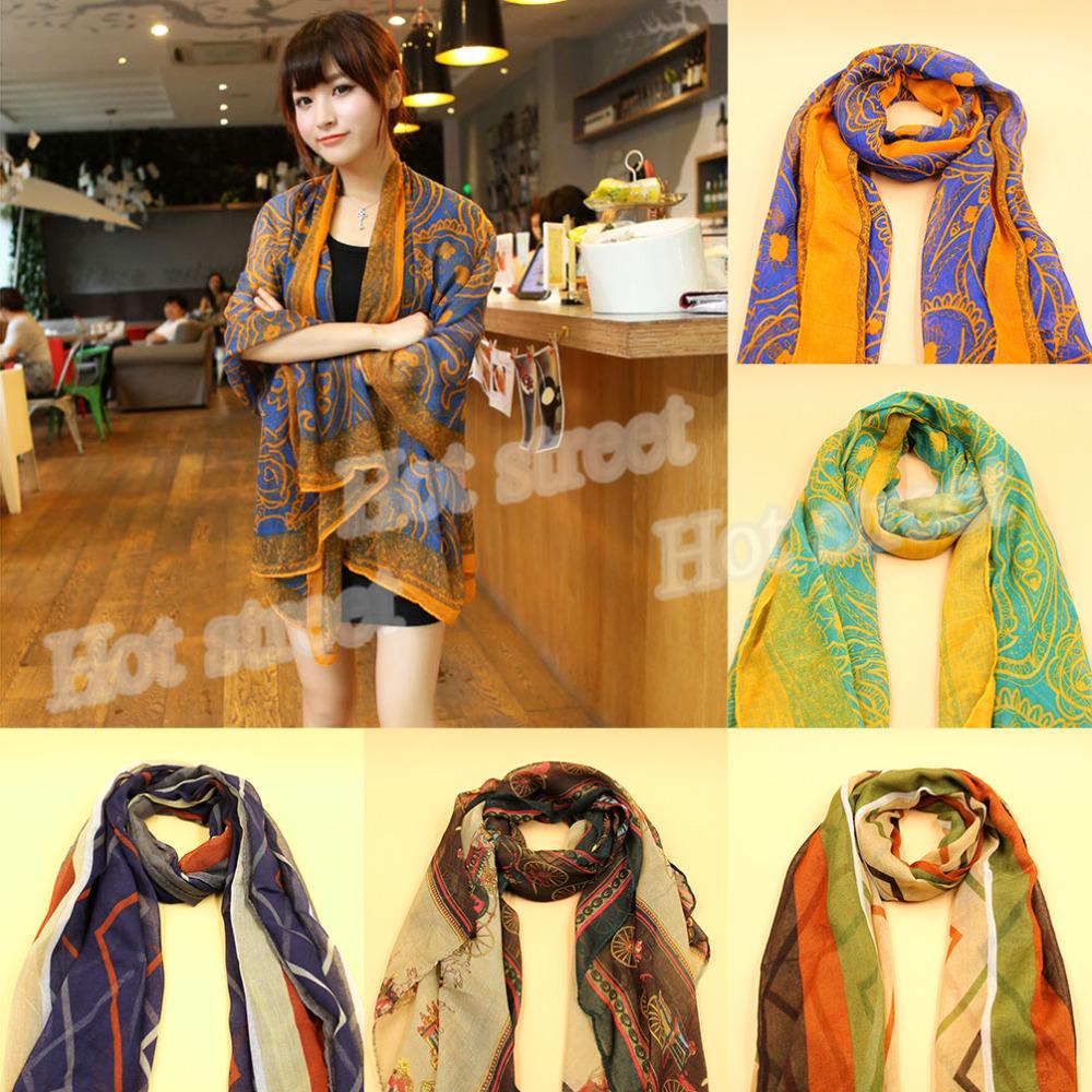 Free Shipping women's fashion high quality cheap imitation silk scarf shawl(China (Mainland))