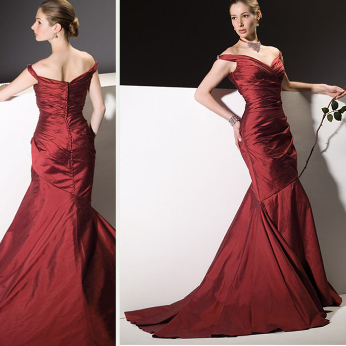 Custom made red mermaid cheap mother of the bride dresses for Cheap wedding reception dresses for bride