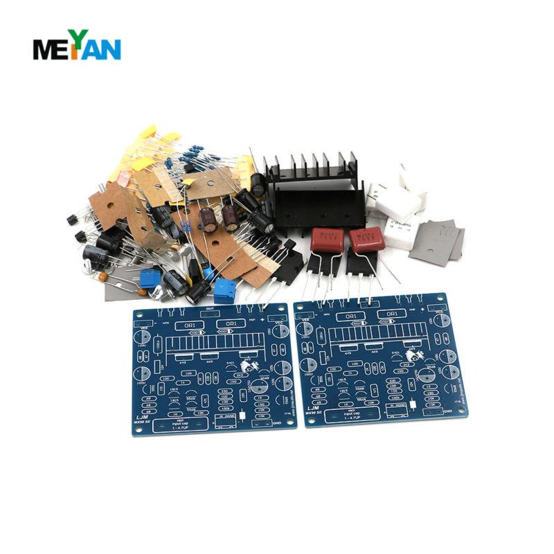 2PCS MX50 SE Power amp Kit Dual 2.0 Channel Power Amplifier Kit 100W+100W