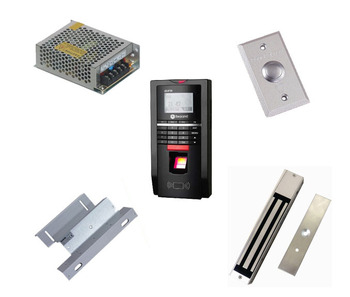 Free ship by DHL ,Finger access control kit , finger access control +power+280kg magnetic lock+ZL bracket+exit button,sn:F20_7