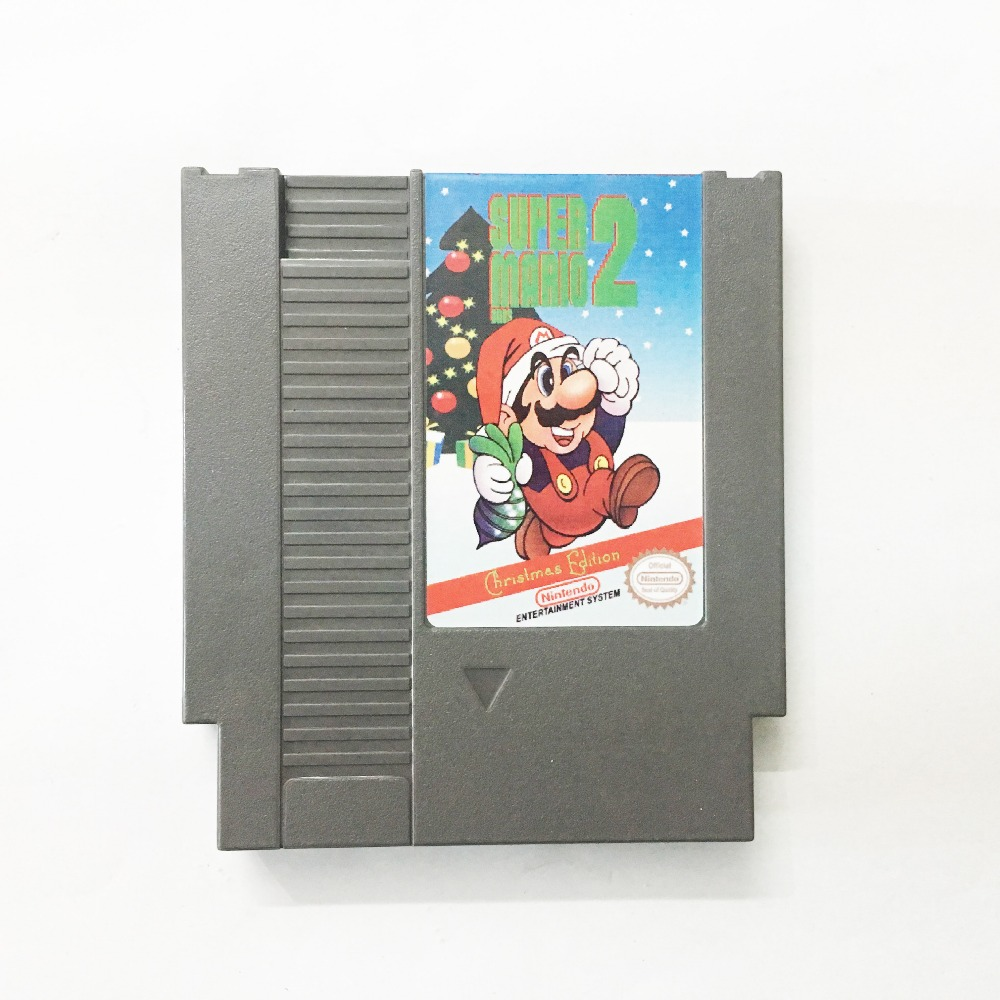 Super Bros 2 font b Christmas b font Edition Game card 72pin 8 bit Game cartridge