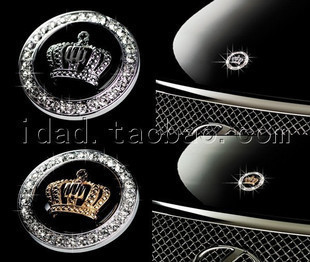 Personalized car stickers emblem auto supplies refires metal car stickers decoration jackknifed engine cover round