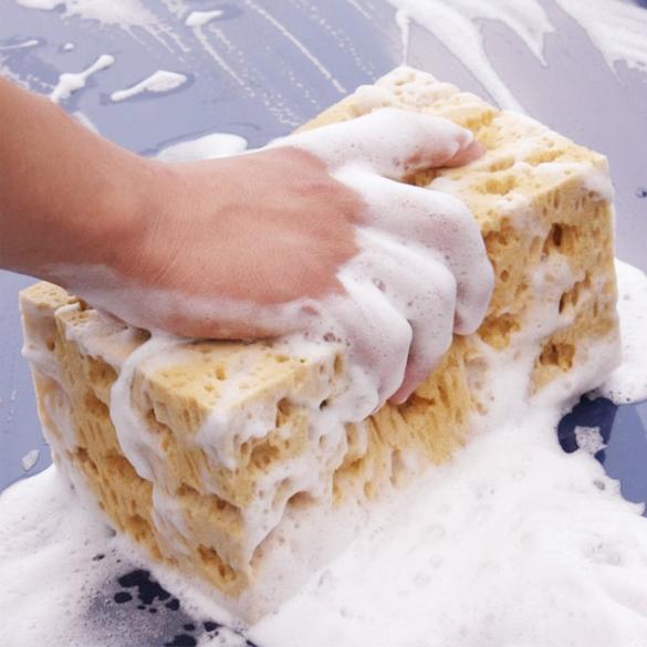 New Fashion Hot Sale Car Cleaning Sponge Mini Yellow Car Auto Cleaning Sponge Block(China (Mainland))