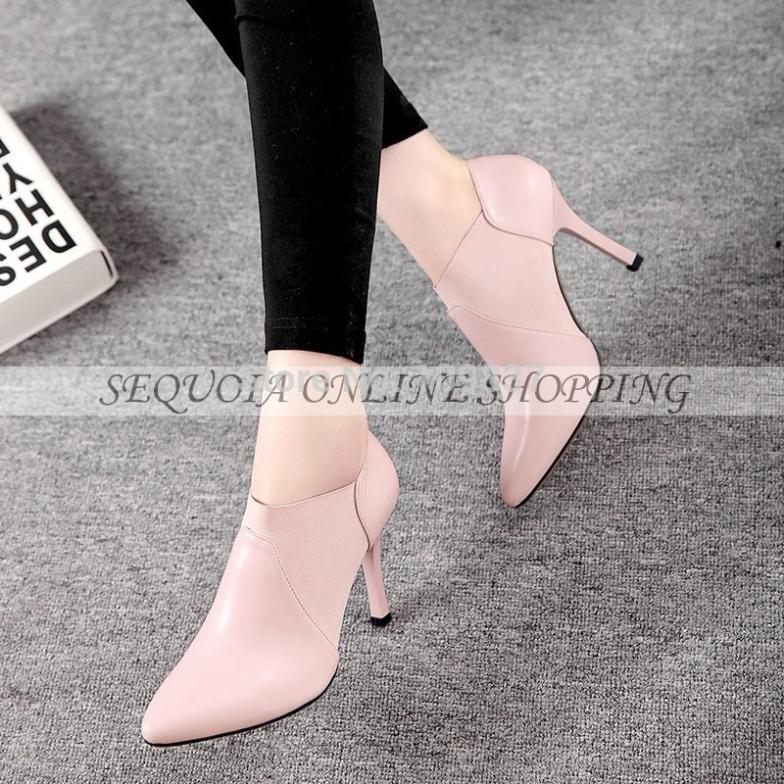 2015 Lastest Brand women casual real genuine leather pumps shoes high heels Red Black Nude Pink size 34-39 MY5535B(China (Mainland))
