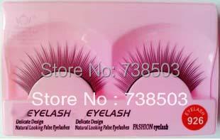 Marlliss wool false eyelashes 926 black natural slender 10 nude makeup box(China (Mainland))