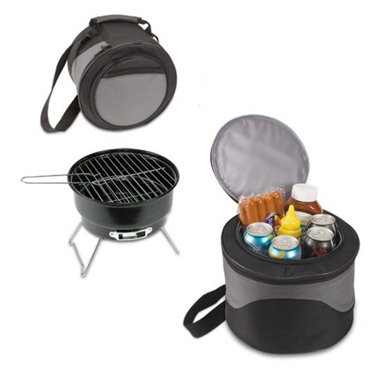 Outdoor Household Barbecue Brazier Charcoal Portable BBQ Mini Grill With Bags Black(China (Mainland))