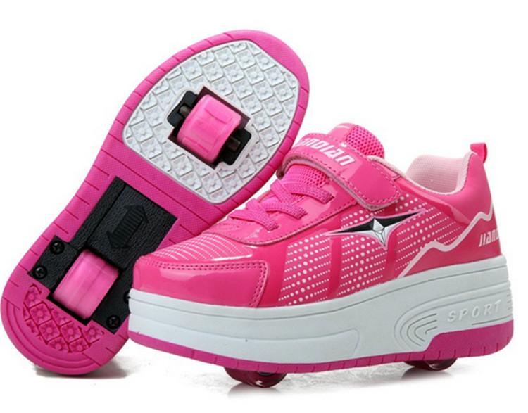 2016 New Kids wheelies shoes tenis deportivas zapatillas con ruedas girls ninos&ninas children boy roller two wheels