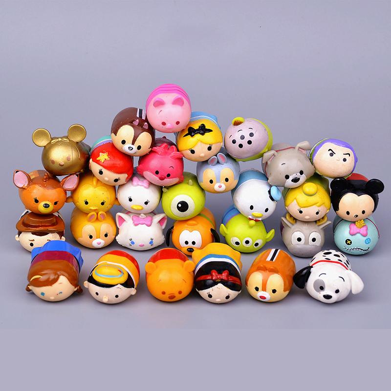 10Pcs/lot Cartoon 3.8CM Tsum Tsum Donald Mickey Winnie Duck Toys Cute Elf Doll Bathing Toy For Chirldren Gift(China (Mainland))