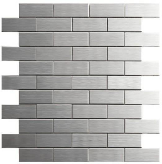 Mosaico materiales de construcci n de acero inoxidable - Panel pared cocina ...