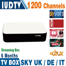Mag 254 Mag 250 Streaming IPTV Box 6 Months 1200+ Italy Spanish IPTV Channels Server Inside Streaming Box Streaming Media Player