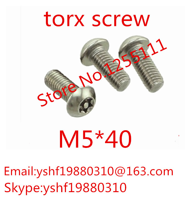 50pcs/lot ISO7380 M5 x 40 M5*40 A2 Stainless Steel Torx Button Head Tamper Proof Security Screw Screws<br><br>Aliexpress