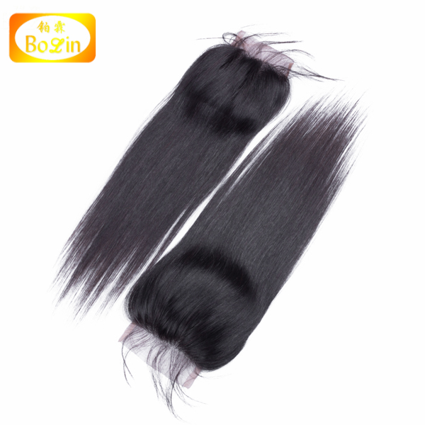 Peruvian Lace closure straight virgin hair top closure with baby hair straight unprocessed human hair closure 3.5x4 wholesale