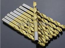 2 unids/pack 13 * 151 mm TIN recubierto CNC molido HSS M35 Co5 % torcedura brocas de mango recto para duro SS / acero / acero fundido hierro alum