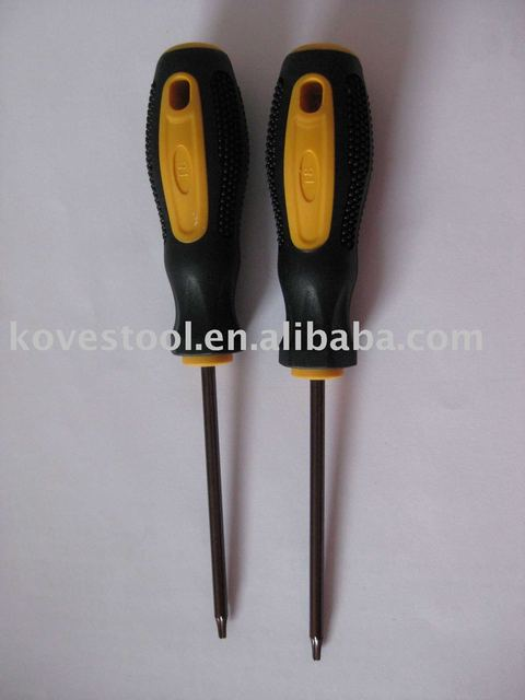 T8 torx key by S2 material and good plastic handle for torx screws