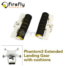 1pair Phantom 3 Extended Landing Gear Elongate Tripod with Anti-collision Cushion 3D Printed Multicopter UAV Drones Accessories
