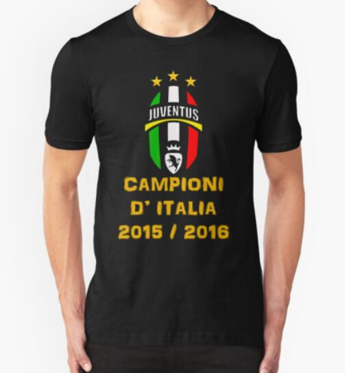 Fashion Summer Man T Shirt Juventus campione d'Italia tricolore 2015-2016 Design T Shirts Sport Fitness Top Tees Man Camisa(China (Mainland))